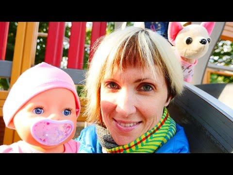 Видео про куклу Baby Born и собачку ChiChi Love. Как МАМА. Прогулка и слинг шарф (видео)