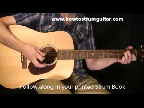 Learn To Play Guitar Lessons – Slow Country Guitar Strum Part 1