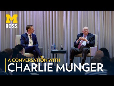 A Conversation With Charlie Munger And Michigan Ross - 2017