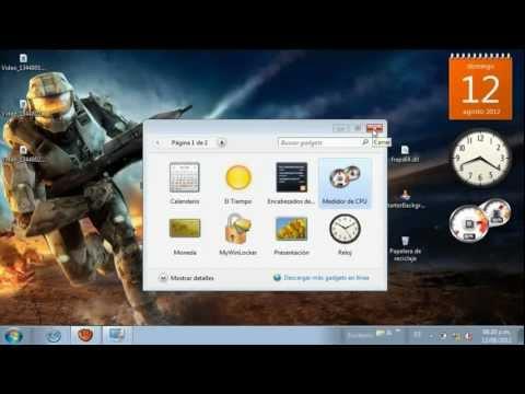 Como poner Gadgets en tu Escritorio para Windows 7 starter (bien explicado)