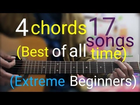 4 Chords 17 Best Songs Of all Time (Extreme Beginners) – Best Hindi Mashup guitar lesson