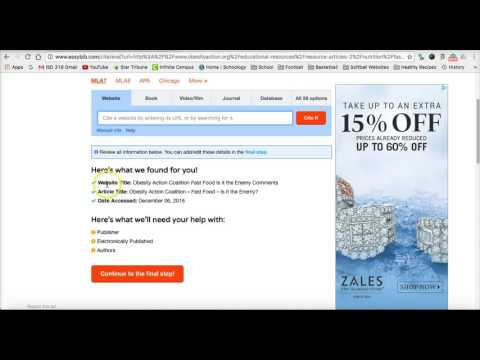easybib website apa