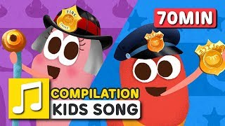 Video Great Jobs in the World and other songs | 75 min | LARVA KIDS | Nursery Rhyme for kids MP3, 3GP, MP4, WEBM, AVI, FLV April 2019