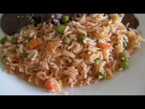 Arroz Rojo Con Chicharos Y Zanahorias * Video 114 *
