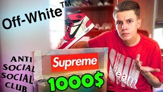 1000$ HYPEBEAST MYSTERY BOX UNBOXING! +GIVEAWAY (Supreme, Off-White, Yeezy, Moncler, etc.)