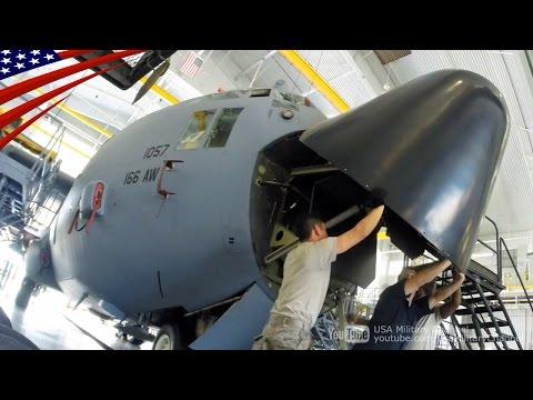 アメリカ空軍のC-130H軍用輸送機の23日間に渡る航空機整備(重整備)のタイムラプス映像。  USAミリタリーチャンネルのチャンネル登録はこちら→https://www.youtube.com/subscription_center?add_user=UsaMilitaryChannel  Time-lapse...