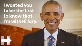 President Barack Obama endorses Hillary Clinton for president
