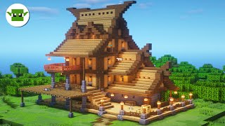 Minecraft Rustic House with Shop   Minecraft Building Tutorial in the 5x5 Town