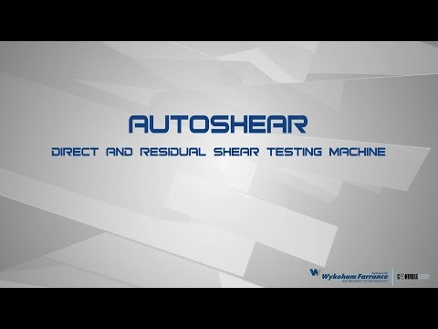 AUTOSHEAR — How-to perform direct shear test — Wykeham Farrance | CONTROLS Group