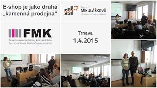 Foto z akcie FMK Trnava prednáša Petra Mikulášková.