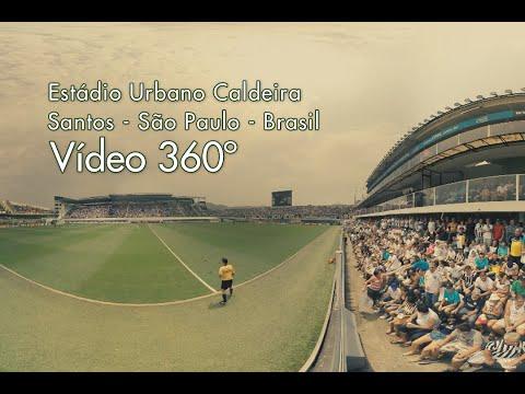 Estádio Urbano Caldeira - Vila Belmiro - Santos #360video