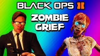 Black Ops 2 Zombies Strategy FAIL! - Buried 2v2 Grief Starting at Round 20 (Funny Moments)