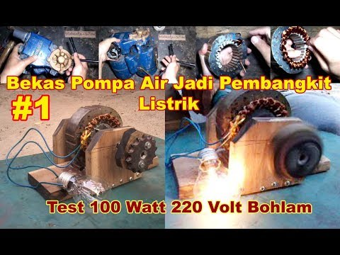 Handmade GENERATOR Part 1 - Cara / DIY / How to make from water pump motor