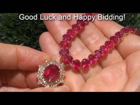 Ruby & Diamond Cocktail Necklace $97,000 Estate Auction Sale eBay