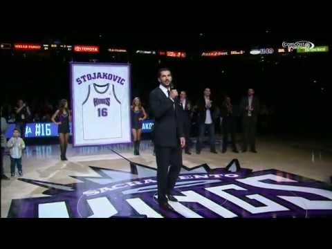 The Sacramento Kings Retire Peja Stojakovic's Jersey
