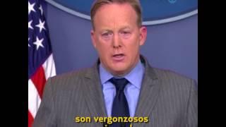 Luego de la salida de Sean Spicer como vocero de la Casa Blanca, recordamos algunos de sus momentos más rimbombantes.