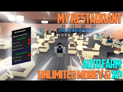 🔥 Roblox My Restaurant Script / Hack OP Money hack / AutoFarm & XP 🔥 видео