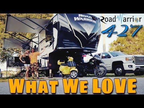 2017 Heartland Road Warrior 427 Toy Hauler   WHAT WE LOVE   Ep. 5 Road Warrior Life