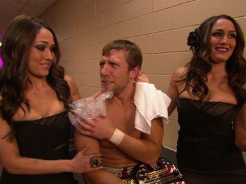 Raw: Daniel Bryan and The Bellas lounge in the locker room