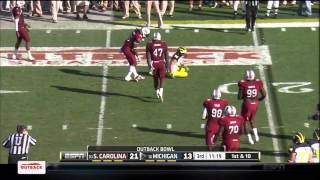 Devin Taylor vs Michigan (2012 Bowl)