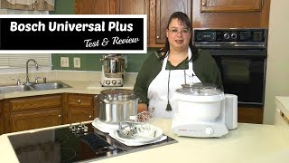 "Join Amy for a review of the Bosch Universal Plus Stand Mixer MUM6N10UC. This is the update version of the Bosch Universal Mixer that is 6.5 quarts and 800 watts. We also have the optional bowl scraper, cookie paddles with metal hub, and the stainless steel bowl. We tested this mixer by using the whips to make whipped cream, the cookie paddles to make Peanut Butter Cookies, and the Dough Hook to make bread dough.Bosch Universal Plus with Dough Hook and Scraper http://amzn.to/2tUYffnBosch Universal Plus:http://amzn.to/2heva8QBosch Universal Plus Scraper:http://amzn.to/2tV0G1iBosch Universal Plus Dough Hook Extender:http://amzn.to/2tUYO8ZBosch Universal Plus Stainless Steel Bowl:http://amzn.to/2hefCShBosch Universal Plus Cookie Paddles with Metal Hub:http://amzn.to/2eYLB8BBosch Universal Plus Unboxing:http://youtu.be/74bYkyoV0W8Amy's Ultimate Stand Mixer Challenge: Bosch vs. KitchenAid Pro 600http://youtu.be/c_BOi0Q61qAAmy's KitchenAid Commercial 8 Quart Test & Review:http://youtu.be/r1VymGWckFkKitchenAid Comercial 8 Quart Unboxing:http://youtu.be/bgO2cVQrzMUAmy Learns to Cook is all about learning to make simple, tasty food from fresh ingredients.  One year ago, I made a commitment to stop eating processed convenience foods.  I decided to learn to cook ""real"" food. Join me!  Let's learn to cook together! Enjoy! Please share! Please SUBSCRIBE to my channel, LIKE, and leave a COMMENT.Please visit my website: www.amylearnstocook.comAny links in this description, including Amazon, are affiliate links."