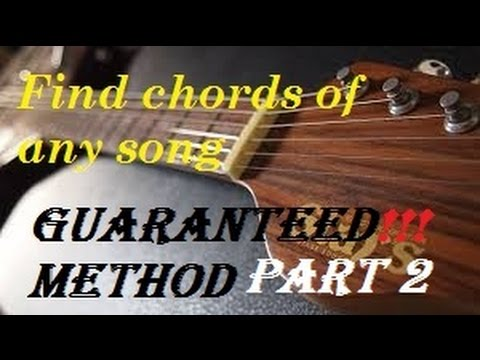 How to Find guitar chords and scale  of a song – Guaranteed successful method part-1