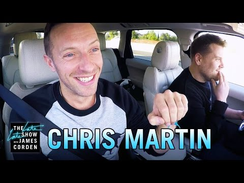 Chris Martin canta sus éxitos en el Carpool Karaoke