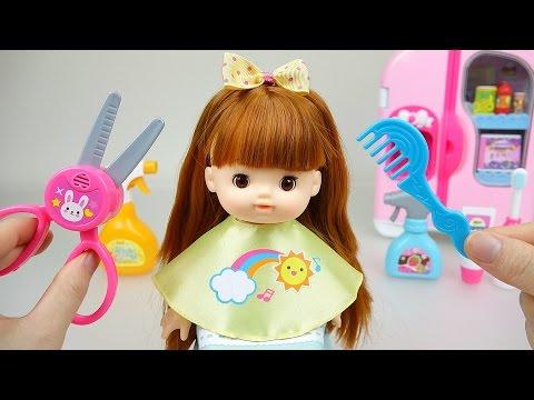 Baby Doll hair cut toys 콩순이 와 뽀로로 똘똘이 미용실 장난감 놀이