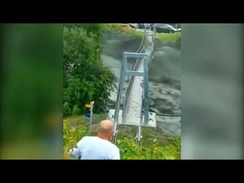 Gewaltige Schlammlawine in der Schweiz - zwei Menschen werden vermisst
