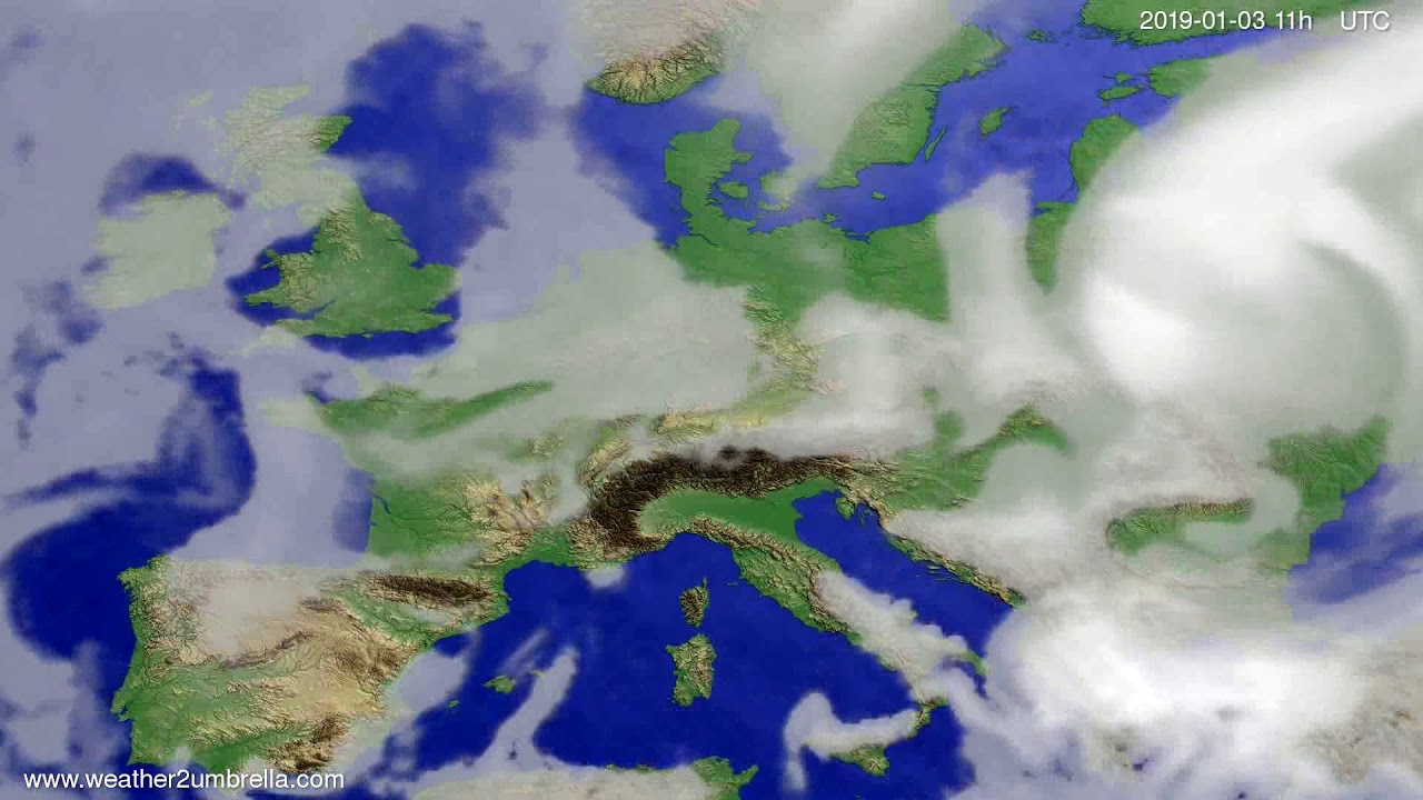 Cloud forecast Europe 2018-12-31