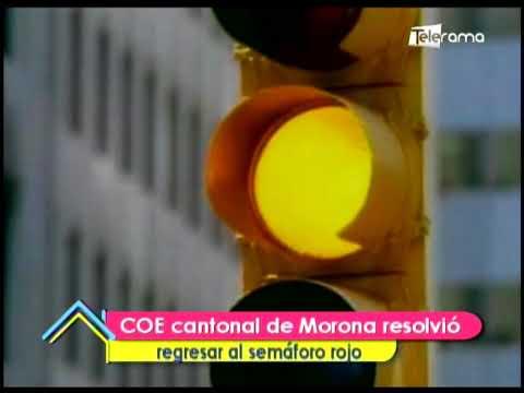 COE cantonal de Morona resolvió regresar al semáforo rojo