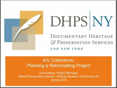 AV Collections: Planning a Reformatting Project