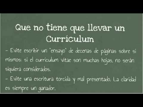 Video of Como hacer un Currículum Vitae