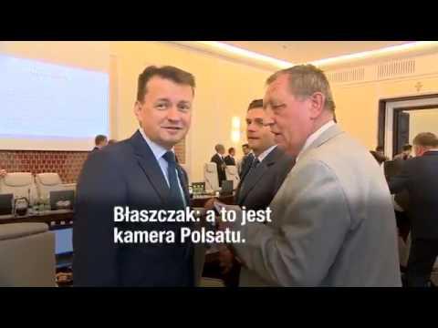 - To jest taka… córka leśniczego – powiedział minister Szyszko, wręczając kopertę ministrowi Błaszczakowi.