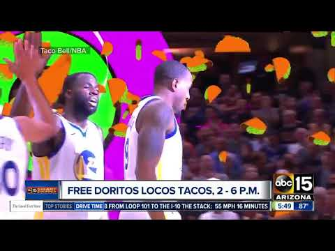 Wednesday: Score a free Doritos Locos Taco from 2 p.m. to 6 p.m. at Taco Bell