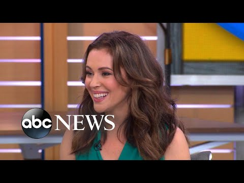 Alyssa Milano talks mom guilt with Michael Strahan and Sara Haines