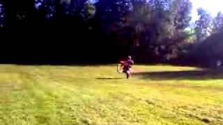 3. 2009 KTM 105 xc wheelie