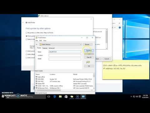Adding a network printer to Windows 10