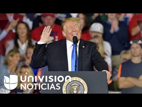 A semanas de las elecciones, Trump sube su retórica contra los demócratas durante un acto de campaña