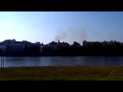 VIDEO: Požiar budovy bývalého hotela Slovan v Piešťanoch
