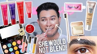 TESTING NEW VIRAL OVER HYPED MAKEUP! Spongebob Collection, ELF, Maybelline, Etc! by Manny Mua