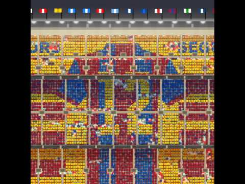 This is how the Camp Nou mosaic will look for the Clásico