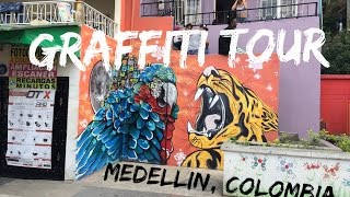 GRAFFITI TOUR - MEDELLIN - COLOMBIA TRAVEL VLOG - The Adventures of Pip & Tobes