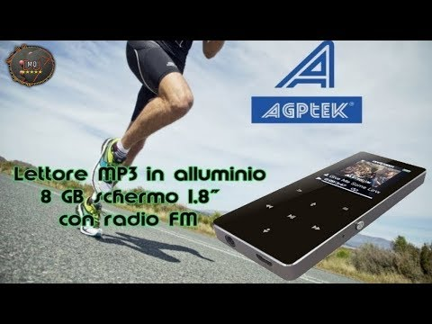 🎬AMAZON►AGPTek Lettore MP3 B05 in ALLUMINIO (ITA)