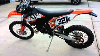 6. 2008 KTM 250 XCW (Plated) 2 Stroke