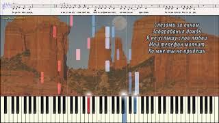 Ты не целуй - Гагарина Полина (Ноты и Видеоурок для фортепиано) (piano cover)