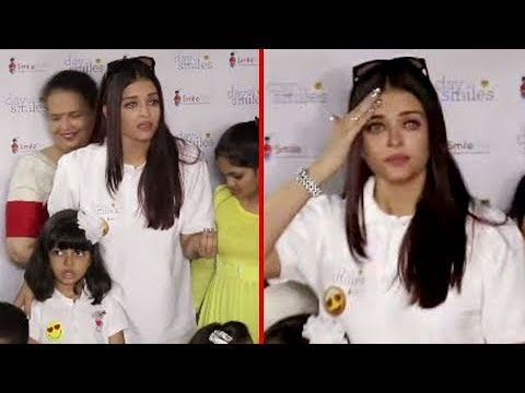 Aishwarya Rai STARTS CRYING In PUBLIC At Smile Tra
