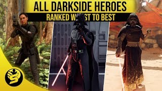 All Villains Ranked from worst to best! - STAR WARS Battlefront 2