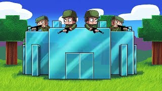Minecraft | GLASS BASE CHALLENGE - Fragile Base Defense! (Glass Fort Build)