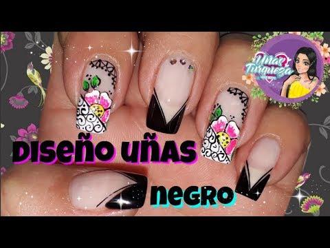 Diseños de uñas - Decoración de Uñas en Negro/Diseño de uñas en negro